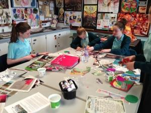 Art Flag Bunting Deirdre Robb Elimgrove Primary School