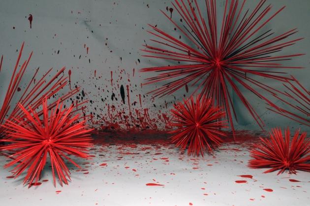 Blood_installation_Deirdre_Robb