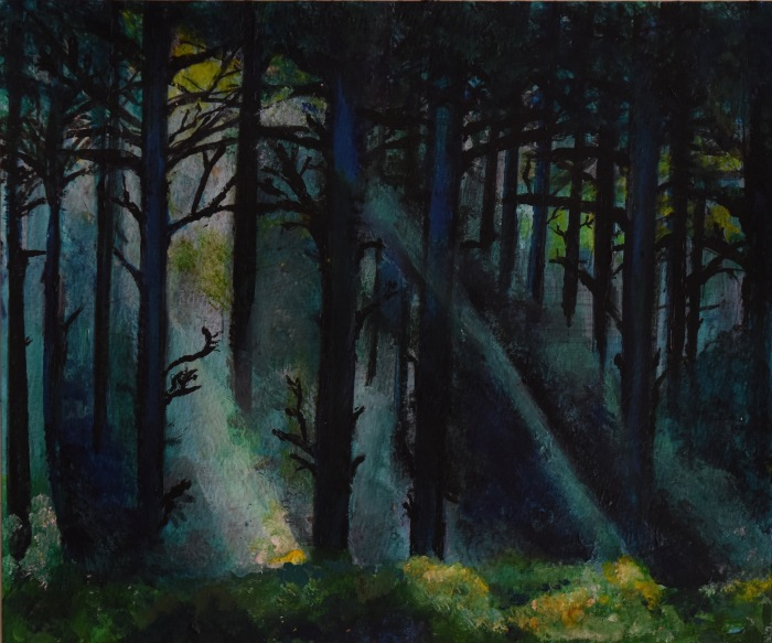 Forest_light_30cmX23cm_acrylic_on_paper