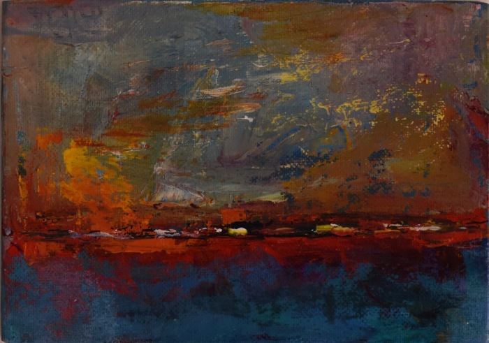 illuminated_land_series #10_18cmX30cm_acrylic_on_board