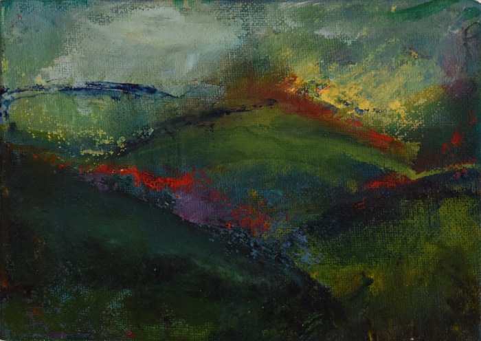 Illuminated_land_series #11_18cmX13cm_acrylic_on_board