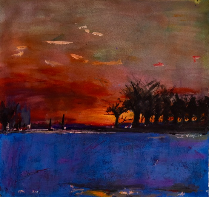 illuminated_land_series #1_40cmX42cm_acrylic_on_paper