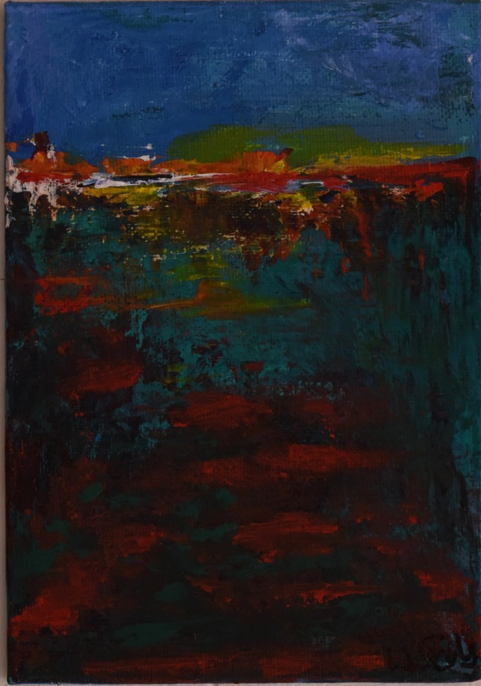 illuminated_land_series #9_13cmX18cm_acrylic_on_board